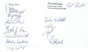 Unterschriften-Patienten